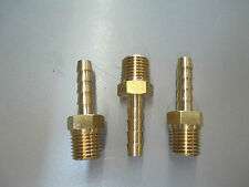 3pack - 1/4 Mpt x 1/4 Barb Adapter, Brass,