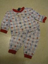 Boy's Oshkosh 2t two piece long sleeve sports sleepwear pjs