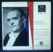 """7"""" HEINRICH SCHLUSNUS - Schubert y Schumann lieder, DECCA"""