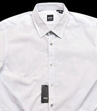 Men's HUGO BOSS Light Gray Grey LUCAS Shirt 2XL XXLarge NWT NEW $145+ Awesome!