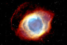 """Poster Print 24"""" x 36"""": The Eye Of God Helix Nebula Spectacular View From Hubble"""