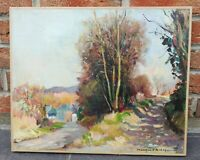 Ancienne peinture sur toile L 46 H 38 signée Jacques Briot, Vintage, peintre
