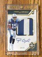 2019 Parris Campbell Limited Rookie Patch On Card Auto #64/99 Colts