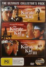 The Karate Kid DVD Trilogy 1 & 2 & 3 Ralph Macchio 1980s_Family