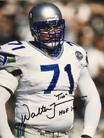Walter Jones Signed 8x10 Photo Autographed Football Seattle Seahawks Auto HOF