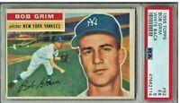 1956 TOPPS #52 NEW YORK YANKEES BOB GRIM PSA 5