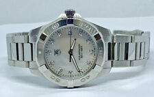 Ladies Tag Heuer Aquaracer WAY1313 Diamond White MOP Dial Watch Stainless Steel
