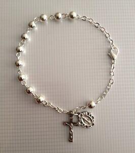 Rosary Bracelet Sterling Silver