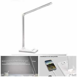 Lampada da scrivania a LED, lampada da tavolo protezione degli occhi, dimmerabil