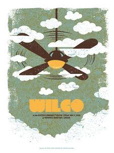 Wilco Gig Poster, Winnipeg 2008 (Original Silkscreen) 19 x 25' Print
