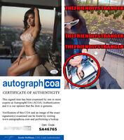 SARAH SHAHI signed Autographed 8X10 PHOTO e EXACT PROOF - SEXY Hot ACOA COA