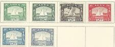 1937 Dhows Part set of 6 all Mint Hinged except the 1a Used
