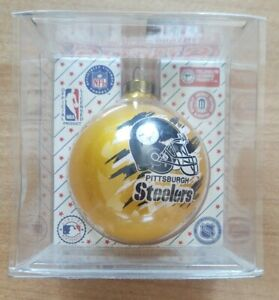 NFL Officially Licensed Pittsburgh Steelers Glass Ornament
