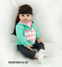 Pinky 22 Inch Realistic Looking Baby Girl Real Lifelike Reborn Baby Doll Toddler