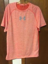 Under Armour Men's Orange Tech Short Sleeve T-Shirt, Size L
