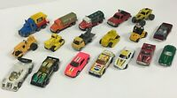 Vintage Mixed 18pc Diecast Cars Trucks Oil Tankers Lot Hotwheels Matchbox & More
