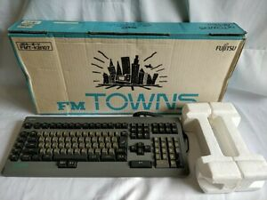 FUJITSU FM Towns /MARTY Original KEYBOARD Boxed tested Working condition-1210-
