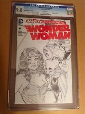 CGC 9.8 Wonder Woman #47 Poly-bagged Sketch Variant Harley Quinn Conner cover