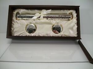 Stephan Baby Keepsake Silver Plated Birth Certificate Holder 1st Tooth 1st Curl