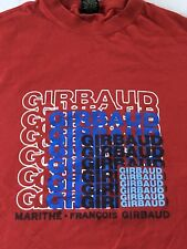 Rare Vintage MARITHE FRANCOIS GIRBAUD Spell Out Graphic T Shirt French SZ M