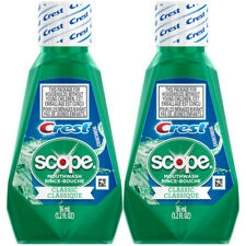 2 Pack Scope Mouthwash Classic Travel Size 36 Ml / 1.2 Fl OZ 1 Each