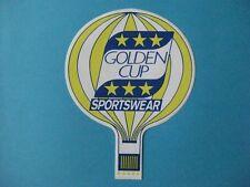 autocollant ancien : GOLDEN CUP SPORTSWEAR