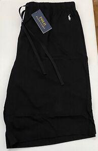 RALPH LAUREN Black Cotton Loungewear/Sleep Short Embroidered Logo Size 2XL BNWT