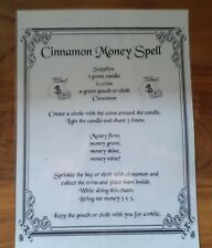 Witches Cinnamon Money Spell Poster. Laminated. Witchcraft/Wicca/Pagan. Spells