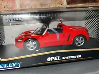 Welly Opel Speedster Red 1:18 Scale Diecast Model Car