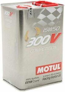 Huile MOTUL 4 Temps 300V Compétition 15W50 5L conforme à la réglementation JASO