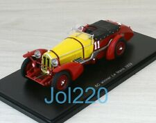 Spark Alfa Romeo 8C No.11 Winner Le Mans 1933 - Tazio Nuvolari et Raymond Sommer Echelle 1:43 Voitore Miniature - Rouge/Jaune