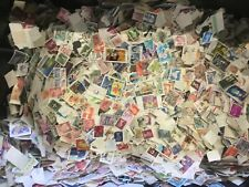 100g  approx 1500 ALL WORLD OFF PAPER COLLECTION / MIXTURE STAMPS kiloware