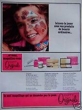 PUBLICITÉ 1968 ORIGINALS DE COTY MAQUILLAGE QUI NE DESSÈCHE PAS LA PEAU