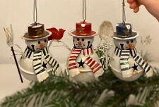 3 x wunderschöne Weihnachts Schneemann Kugeln Kugel | Weihnachten Deko | TOP