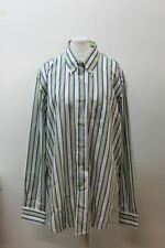 BURBERRY LONDON Ladies Multi-coloured Cotton Collared Striped Shirt Size 4/L