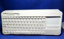 Logitech K400r Wireless Tastatur mit Touchpad - schneeweiss - QWERTZ + Hülle