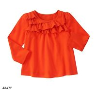 Gymboree Toddler Girls' NWT A-Line Ruffle Top Long Sleeve  Size 2T - MSRP 22.95