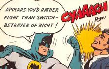 RATHER FIGHT THAN SWITCH BATMAN ADVERTISING DEXTER PRESS POSTCARD (1966)