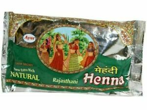 100% Pure Natural Henna Powder From Ayur Rajasthani Mehendi Hair Dye - 200gm
