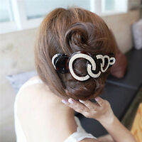 Elegant Full Crystal Women Hair Clip Hairpin Rhinestone Clamp Claw Headwear TB