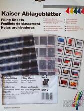 KAISER 2610/25 60MM NEGATIVE STORAGE FILING PAGES NEG FILING SHEETS GLASSINE