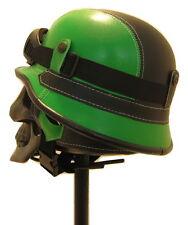 Negro Verde Novedad casco con Gafas Steampunk Gótico Punk Biker Trike Festival