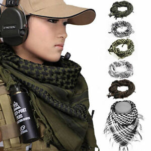 Unisex Army Military Soldier Tactical Sniper Scrim Net Scarf Face Veil Wrap Hot