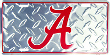 Alabama Crimson Tide Diamond License Plate Sign Made in the USA
