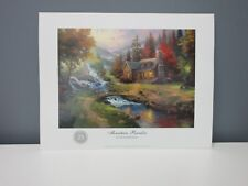 THOMAS KINKADE Lot Of 10 25th Anniversary 11 x 14 Print Mountain Paradise NEW SR