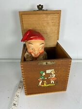 Vintage German Jack In The Box Creepy Clown Man