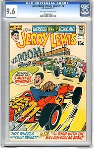 Adventures of Jerry Lewis  #124  CGC  9.6  NM+  Off - wht to wht pgs Last Issue