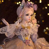 60cm BJD Puppe Doll 1/3 Make-Up Doll Mädchen mit Puppenkleid Neujahr Geschenk