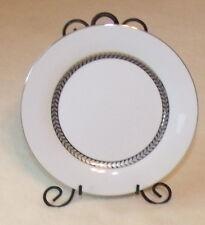 "retroneu imperial platinum 7 5/8"" salad plate white and platinum pre owned"