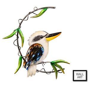Australia Kookaburra Bird Hanging Wall Art Garden Decor Metal Sign Plaque NEW